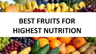 Best Fruits For Highest Nutrition and Glowing Skin