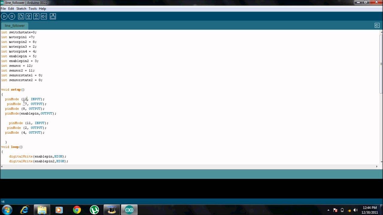 Arduino tutorial line follower youtube