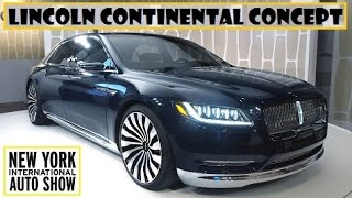 Lincoln Continental Concept, live at 2015 New York Auto Show