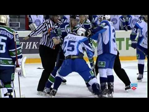 Массовая драка в матче Югра - Динамо Минск / Major brawl at Ugra - Minsk game