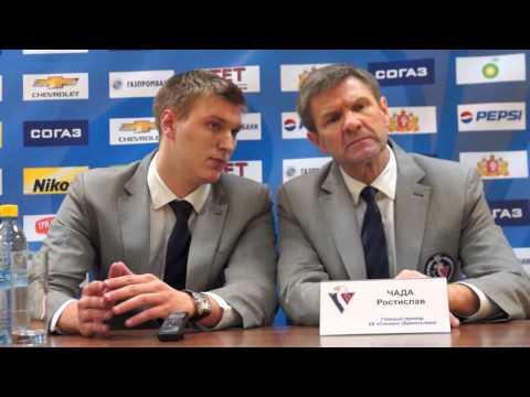 Пресс конфернция после матча Автомобилист   Слован