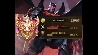 47% damage Batman Conqueror Rank Gameplay Solo Carry  Arena of Valor // Garena RoV