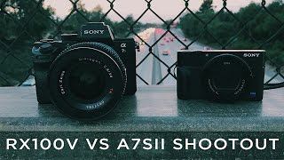 Can a point and shoot replace your DSLR or Mirrorless Camera? (RX100V vs A7SII SHOOTOUT)