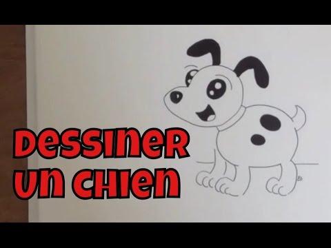 Comment dessiner un chien facile tape par tape tutoriel youtube - Dessin facile chien ...