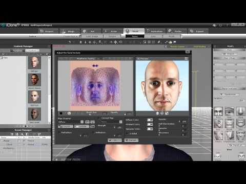 iClone5 Tutorial - 2D Photo to 3D Head