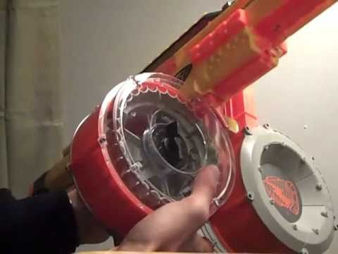 Nerf Gun Stampede Dual Drum Mag Mod 70 Shot Youtube