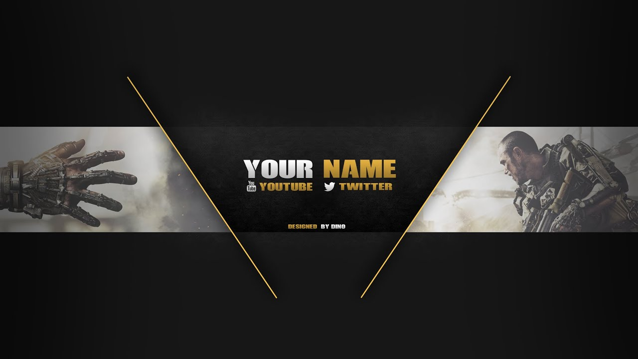 Free Template Advanced Warfare Banner By Dino Youtube