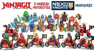 Ninjago 3-Wheeled Motorcycles & Nexo Knights Minifigures Unofficial LEGO KnockOff Set