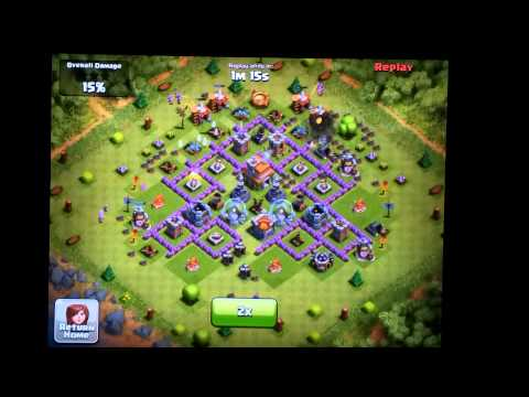 Clash of Clans Town Hall Level 7 Funnel Defense Mortar Focus >>