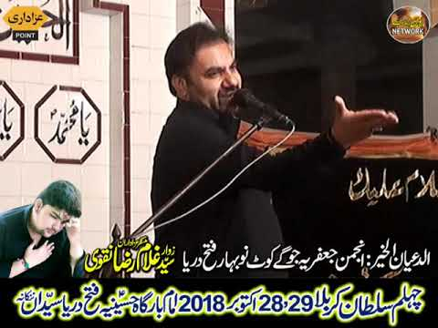 Zakir zaheer ul hassan zaheer  Majlis 28 october 18 Safar 2018 fateh dariya syedan nankana sahib