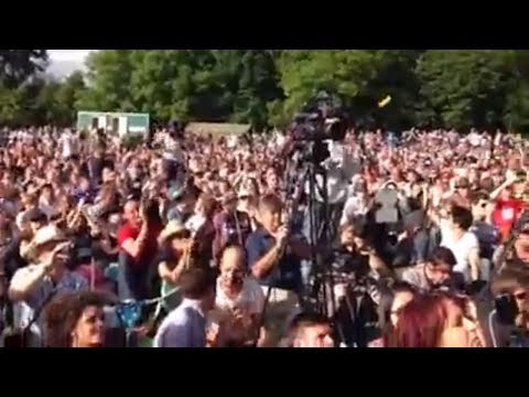Alex Jones Speaks to thousands at Bilderberg 2013