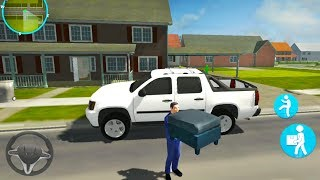 House Movers Job Simulator - Furniture Pickup Transport Truck Driver - Android Gameplay