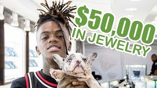 JayDaYoungan Brings His $10,000 Puppies Jewelry Shopping