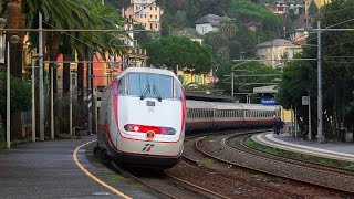 [FS] Passenger trains at Rapallo station. Liguria, Italian Riviera