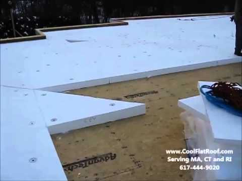 Tapered Insulation On Flat Roof Youtube