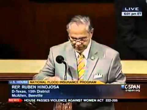 Congressman Hinojosa supports the National Flood Insurance Program Extension