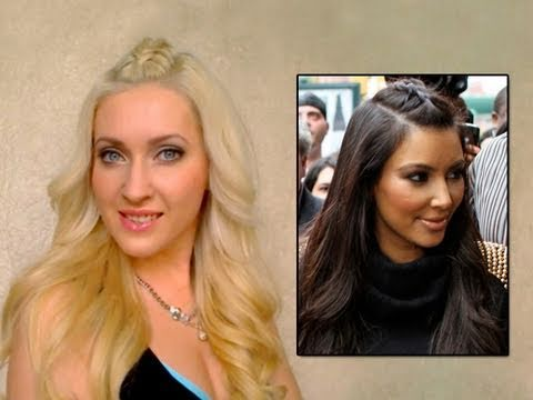 Kim Kardashian hair tutorial: rockstar braid Coiffure cheveux mi long Natte / tresse plaquée