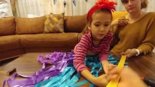 Elife Dans show için hawai etek yaptık, eğelenceli çocuk videosu