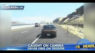 Video shows Oregon state trooper And driver exchange gunfire