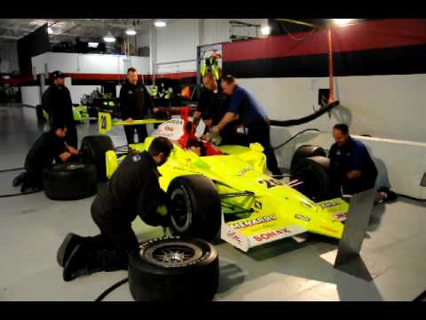 Stationary Pit Stop Practice at Vision Racing shop Dec 2009