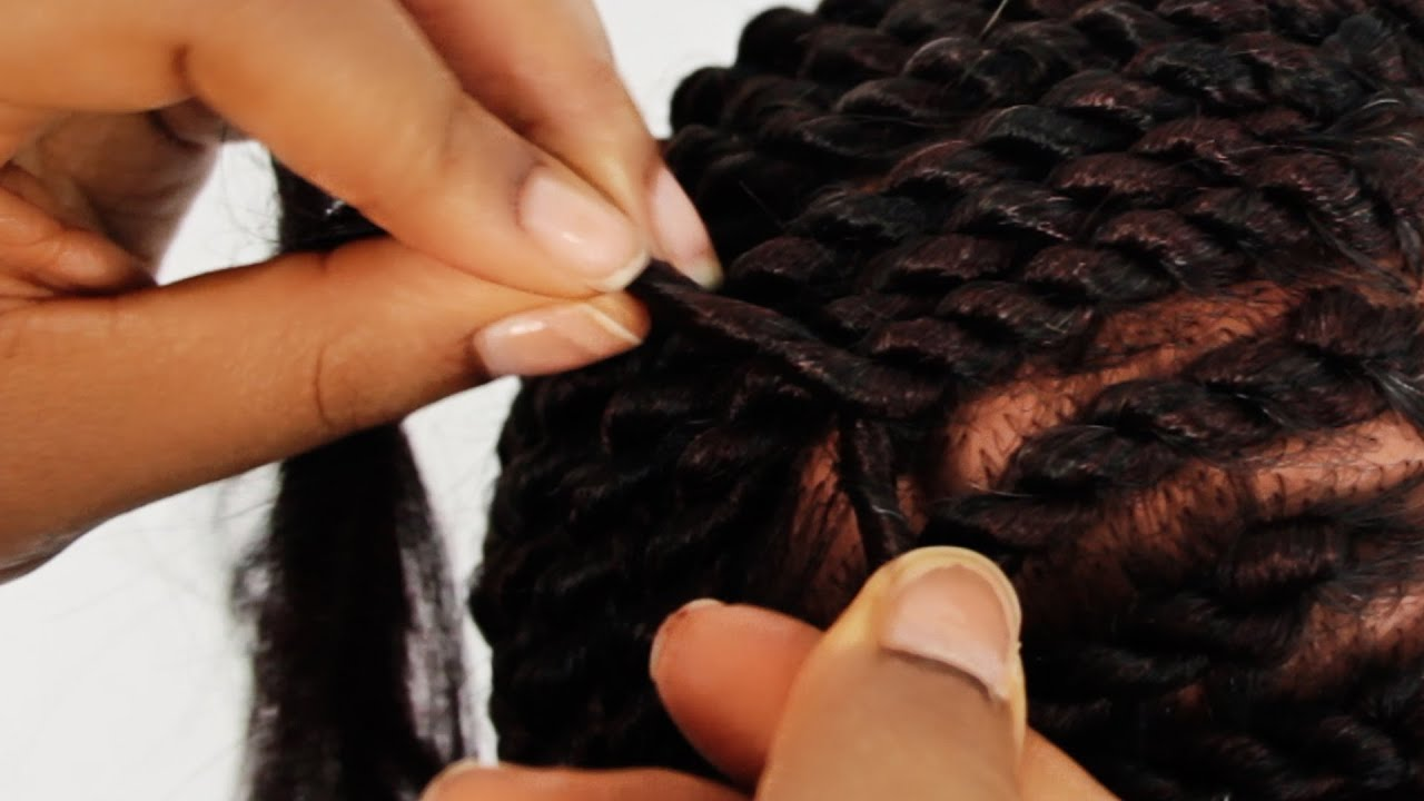 Senegalese Twist Cornrows Step by Step Tutorial Part 2 of 4 - YouTube