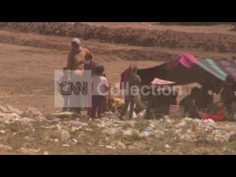 IRAQ: YAZIDI FAMILIES TAKE REFUGE AT U.N. CAMP