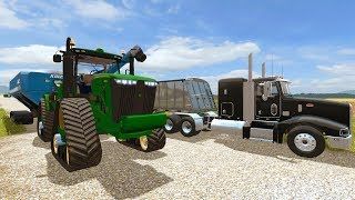 Farming Simulator 2017  Big Corn Harvest Amp Tillage Day  3 Person Crew  Iowa Ep 18