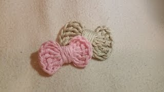 Easy tutorial - How to crochet a simple bow by BerlinCrochet