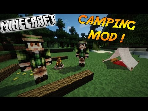 LE KIT DU VRAI CAMPER ! | Présentation du mod 'CAMPING MOD'! - [1.7.10][1.8]