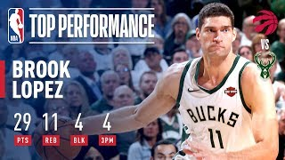 Brook Lopez Joins ELITE Company With an Outstanding Game 1 Performance | May 15, 2019