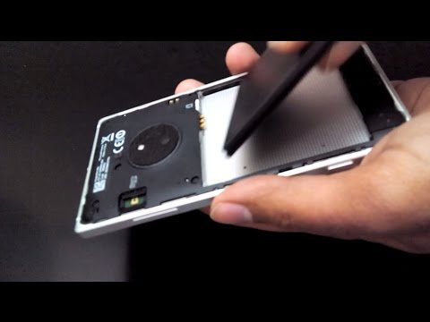 How to Remove Back Cover of Nokia Lumia 830 to Insert Battery. SIM and Micro SD Card