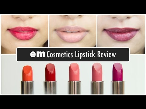 em cosmetics channel Matte Lipstick Review & Swatches