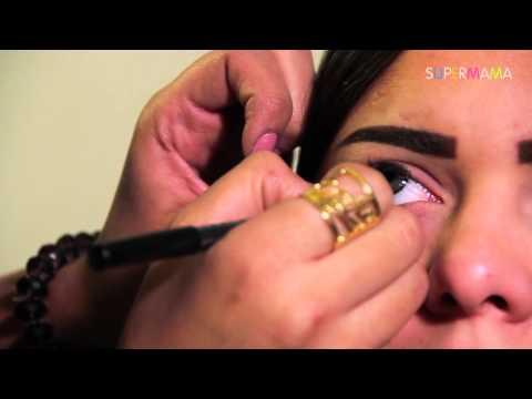 طريقة سهلة لرسم العين الواسعة مع نانيس سليم