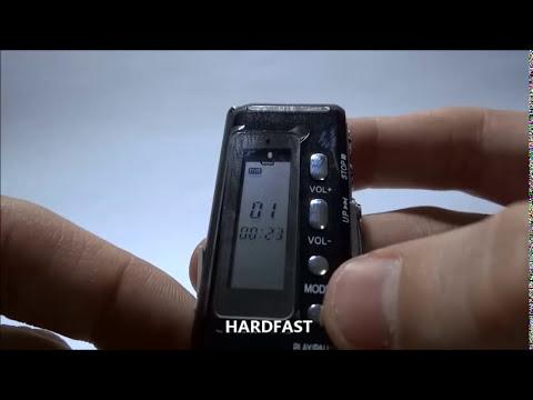 Gravador De Voz Digital Espião Grava Até 24 Dias Direto 8gb Hardfast Tutorial
