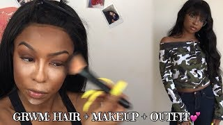 3 in 1 FALL GRWM: HAIR + MAKEUP + OUTFIT | ft. UAmazing Hair | Lovevinni_