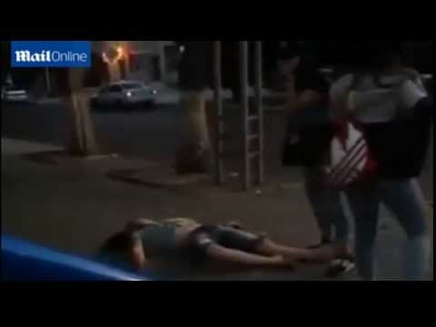 Woman knocks man flat out with one punch in Kazakhstan after he mistakes