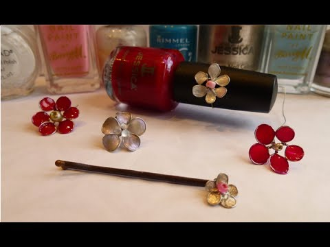 DIY Wire Nail Polish Flowers