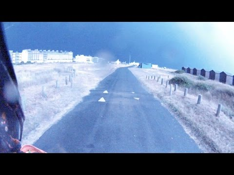 Biker Vs. Lightning Storm! video