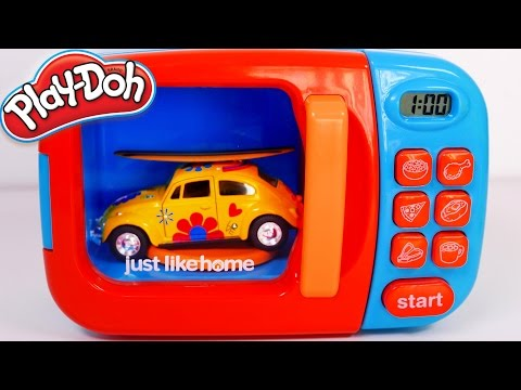 Vehicles Toys and Microwave playset for Kids!! Learn Colors