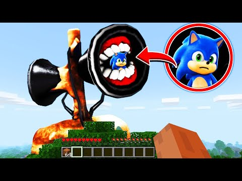 Minecraft: Rescuing BABY SONIC From SIREN HEAD !(Ps3/Xbox360/PS4/XboxOne/PE/MCPE)