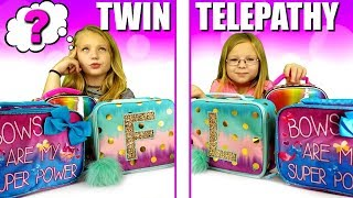 BACK TO SCHOOL Twin Telepathy LUNCH BOX Challenge!!!