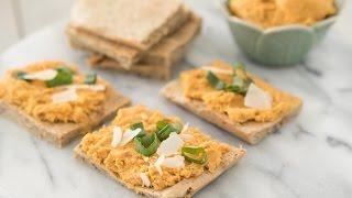 Almond Rosemary Flatbread and Sweet Potato Hummus