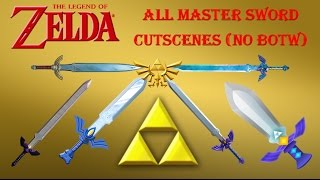 The Legend of Zelda: All Master Sword Cutscenes (No BotW)