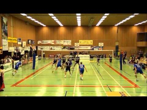 Amazing volleyball set by Gilman Cao Herrera and attack Aleksandar Ljubicic 2012-2013