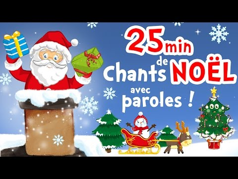 25min of christmas songs for kids with lyrics to learn French!
