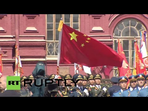 Russia: Chinese troops march in Red Square Victory Day Parade