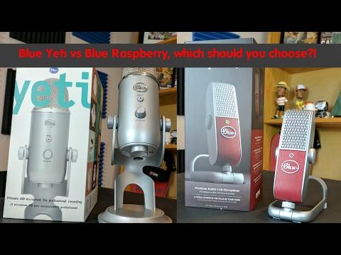 Blue Yeti vs Blue Raspberry Comparison Review: Blue USB Mic shootout!