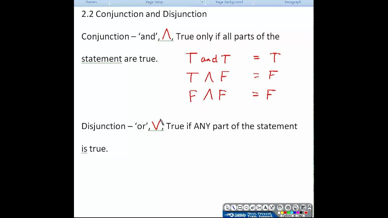 Gallery For u0026gt; Conjunction Examples Math