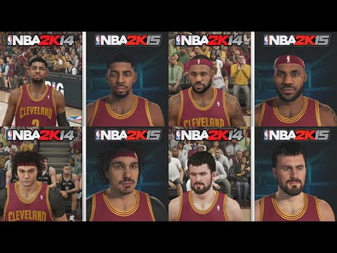 NBA 2K15 Graphics Comparison. Cleveland Cavaliers Roster! NBA 2K15 vs NBA 2K14