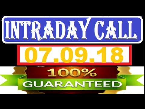 IntraDay Top 4 Jackpot Call 07.09.2018 || today stock || intraday || best stock for 2018